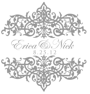 Slate Gray Wedding Monogram