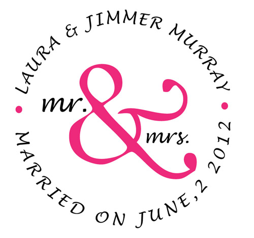 Mr. & Mrs Monogram for Laura & Jimmer