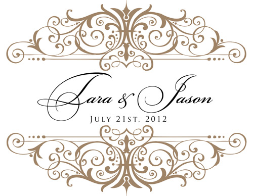 beige and black monogram for tara jason