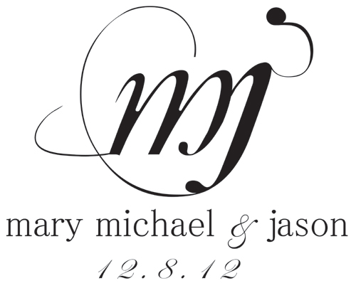 Entwined Initials Wedding Monogram