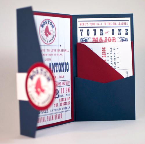 Baseball Team Themed Wedding Invitations