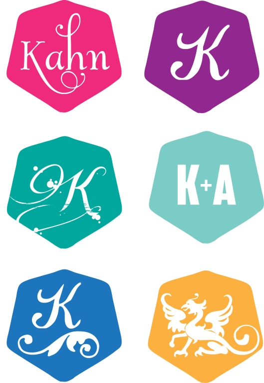 Hex Shaped Wedding Monogram