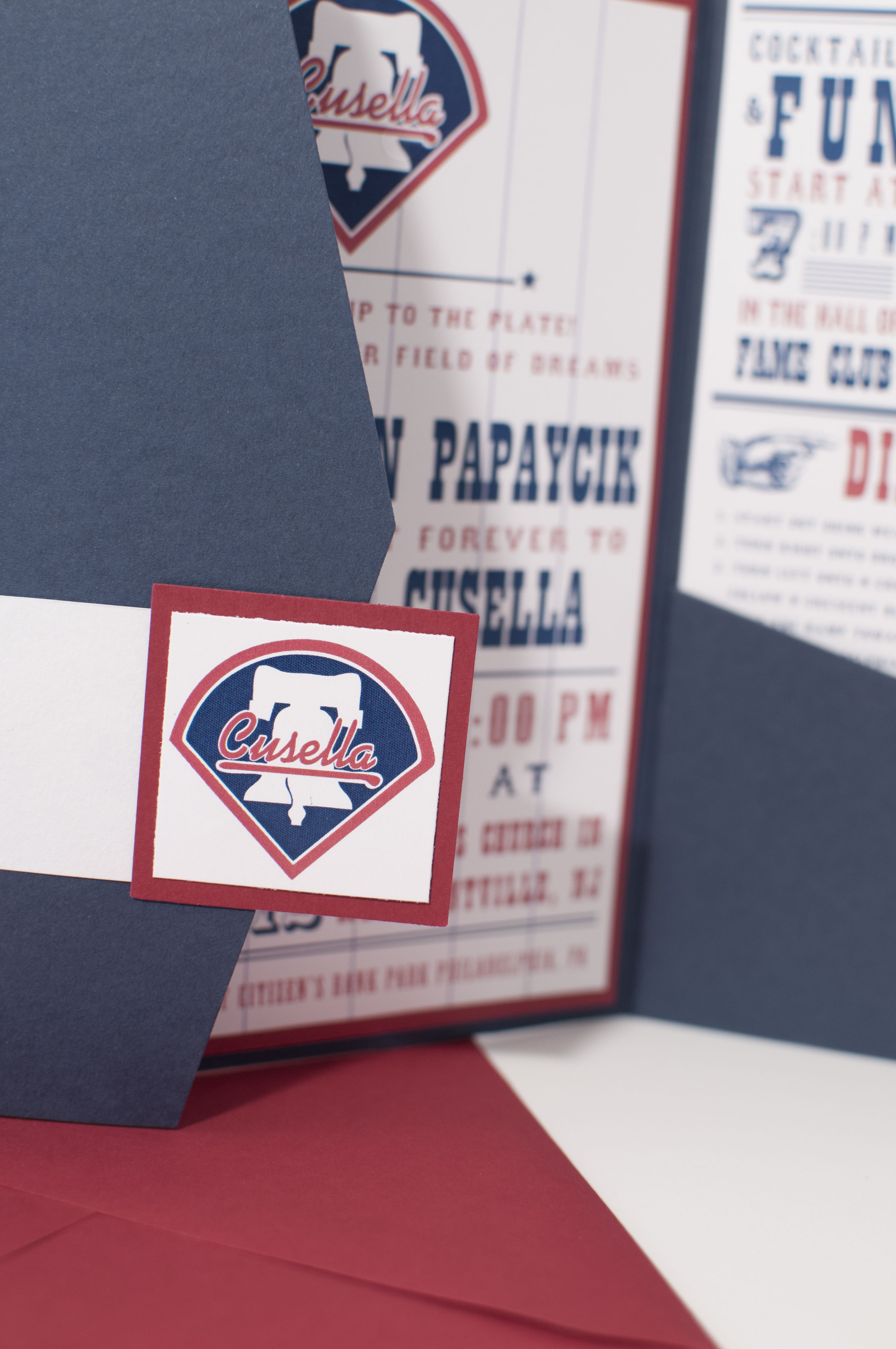 Baseball wedding invitation Wedding Monograms by Bellus Designs