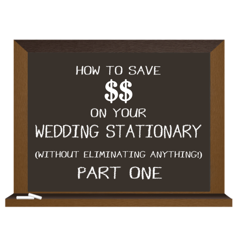 How to Save Money on Your Wedding Stationary a 7 part Blog