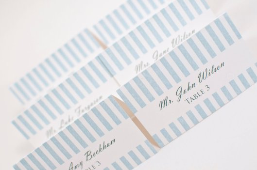 Striped Style Wedding Place Cards