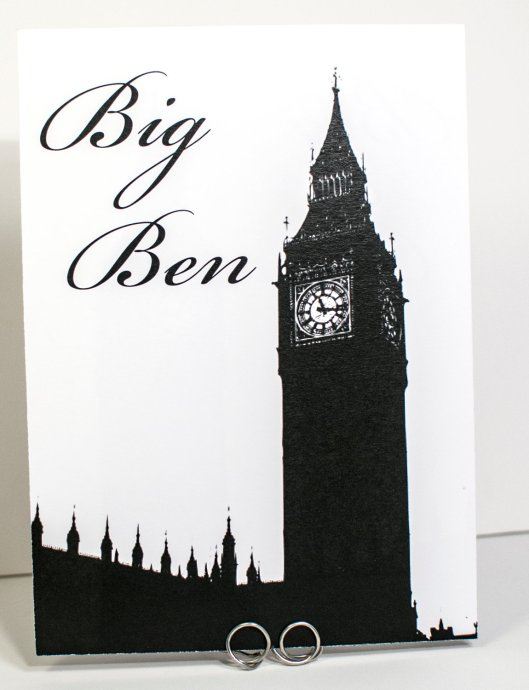 Big Ben Table Number