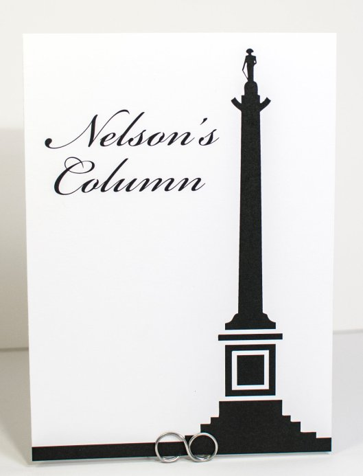 Nelsons Column Table Number