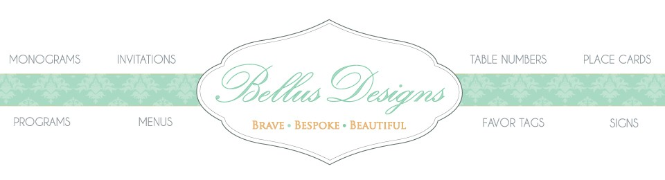 Wedding Monograms by Bellus Designs