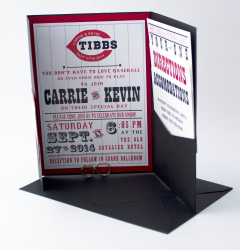 Wedding Invitations for Cincinnati Baseball Fans
