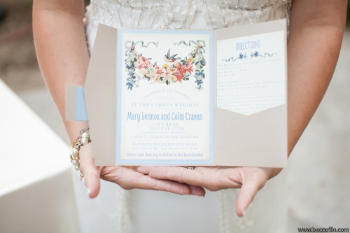 Secret Garden Theme Wedding Invitation
